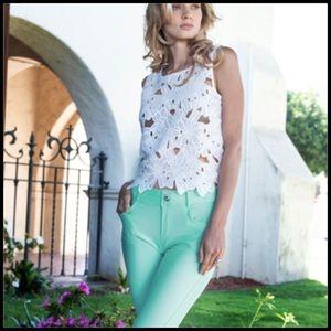 Pants - Capri Jeggings Light Pink Or Turquoise